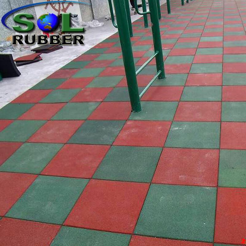 Safety Outdoor Interlock Playground Rubber Flooring Tile