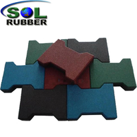 CE Horse Barn Floor Tile Dog-Bone Interlock Rubber Paver