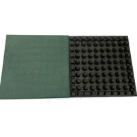 50mm Square Bottom Playground Rubber Mat