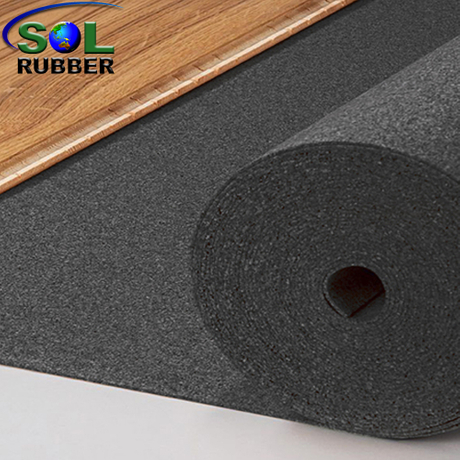 SOL RUBBER Acoustic Underlay rubber Mat with Optimal Sound Absorption fine SBR granuless