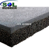 SOL RUBBER used children outdoor safety crossfit playground rubber floor tiles mat fine SBR granules surface, bigger SBR granules bottom