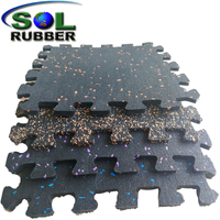 Free Install Interlock Gym Rubber Floor Mat