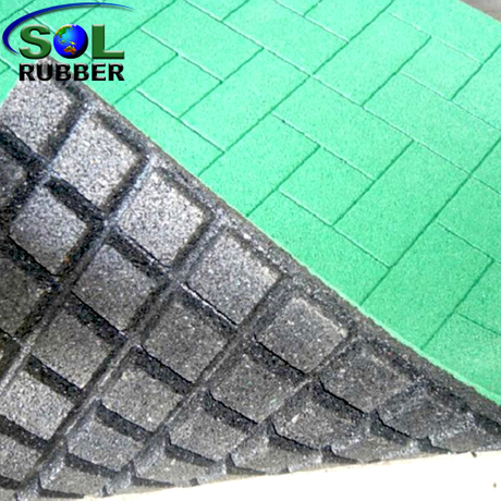 SOL RUBBER outdoor driveway recycled rubber brick tiles mats lowes fine SBR granules