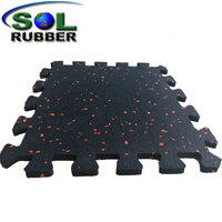 Interlock Space Area Rubber Flooring