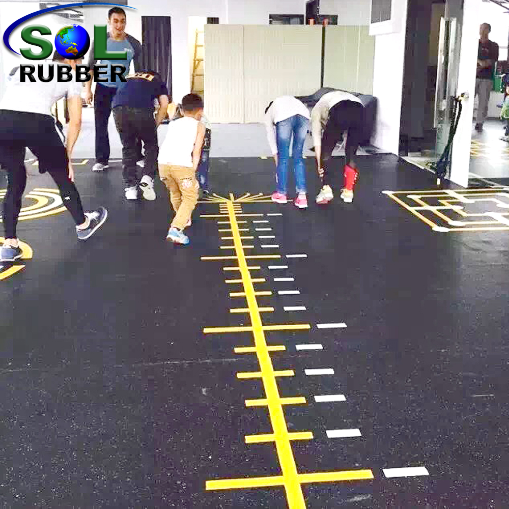 Heavy Duty Wear Gym Rubber Floor Tile