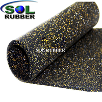 Colorful EPDM Flecks GYM Rubber Roll Flooring