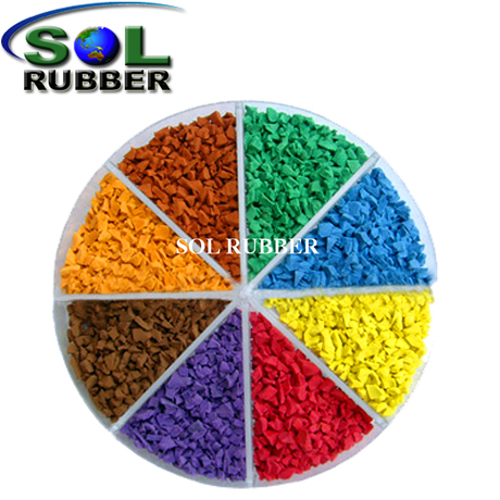 SOL RUBBER EPDM recycled tyre rubber running track tire granules material