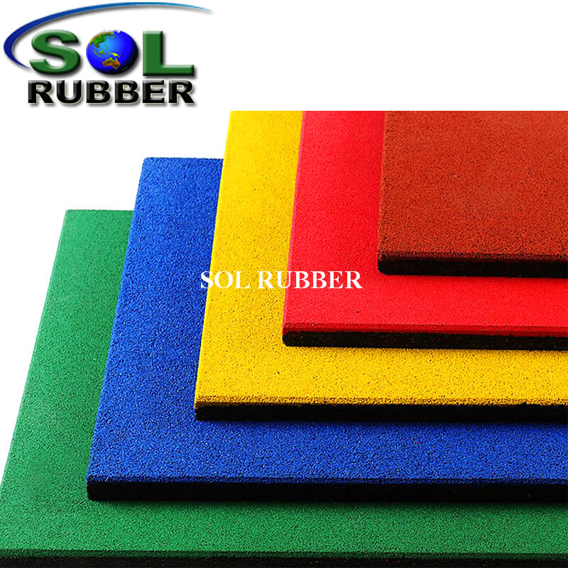 20mm Green Playground Safety Rubber Mat