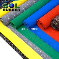 SOL RUBBER EPDM gym rubber flooring roll EPDM particles mixed