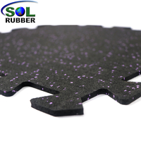 With EPDM Flecks Interlock Fitness Rubber Mat