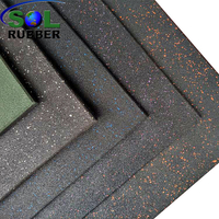 50cm*50cm Crossfit Fitness EPDM Gym Tile Rubber Floor Mat