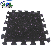 Convenient for Home Installation Interlocking Rubber Flooring