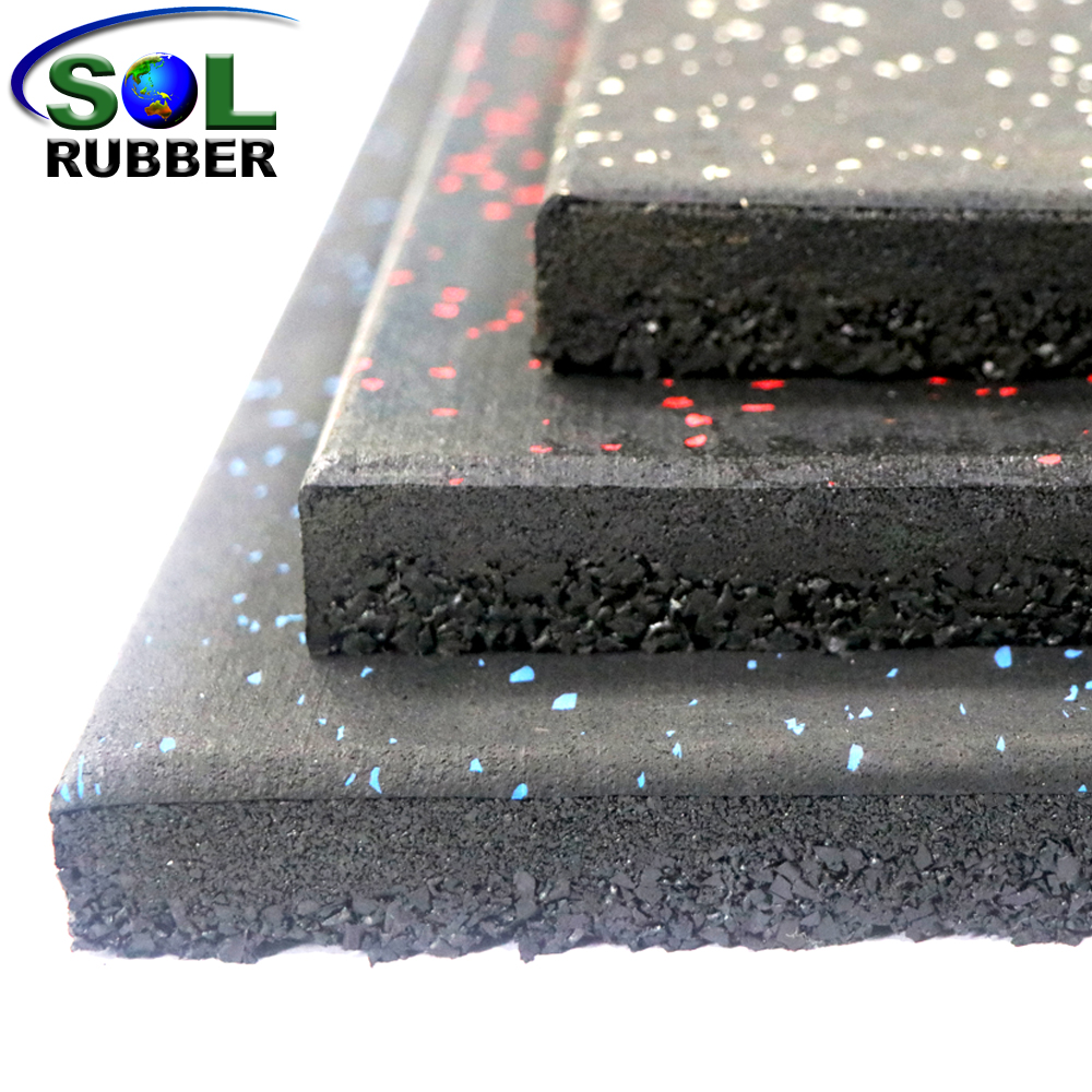 High Elasticity Gym Rubber Crumb Tile Rubber Floor Tile
