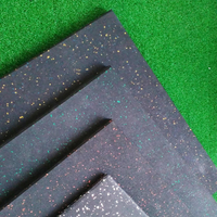8-50mm Non-Slip Recycled Gym Rubber Flooring Mats Tiles