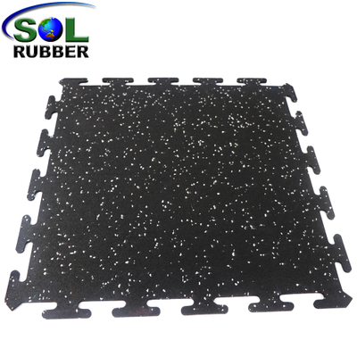 Easy Install Home Gym Interlock Rubber Flooring Mat