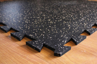 Home Mat Easy Install Interlocking Rubber Flooring